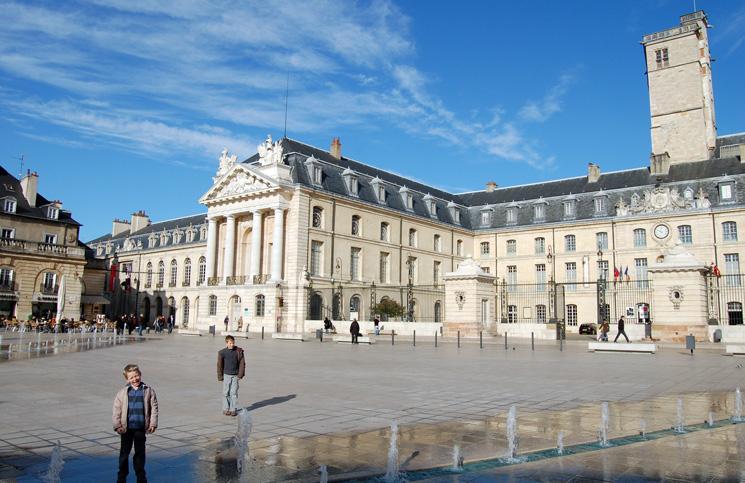 Binnenstad met Musée des Beaux Arts Dijon Bourgogne