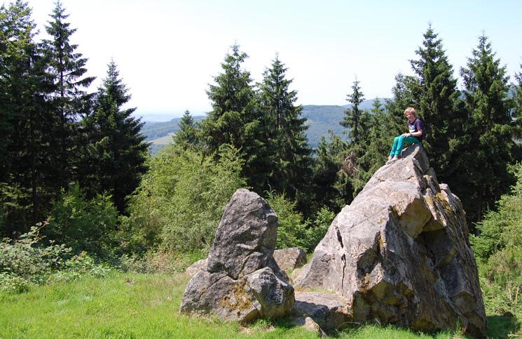 Uitzicht bij wandeling Bibracte op Mont Beuvray