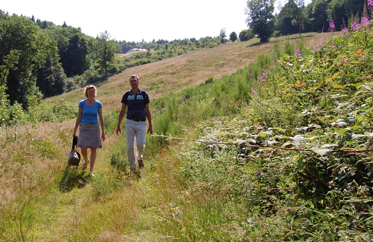 Wandelen bij Anost, Morvan